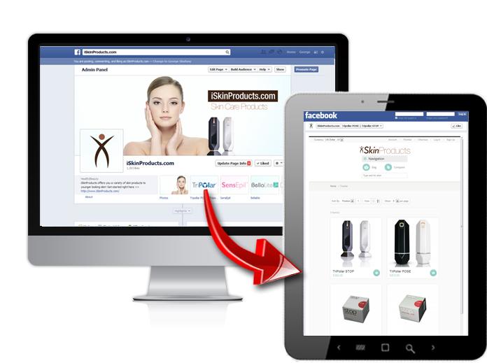 דוגמא לחנות בפייסבוק