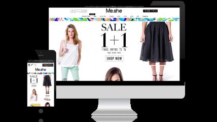 חנות וירטואלית לבגדים - Me She